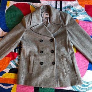 Old Navy Grey Pea Coat - never worn